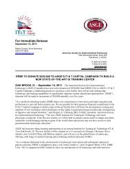 For Immediate Release - American Society for Gastrointestinal ...