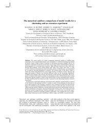 The numerical sandbox: comparison of model results ... - ETH Zürich