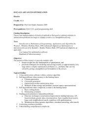 ISYE 4133 - Advanced Optimization - H. Milton Stewart School of ...