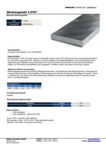 Werkzeugstahl 1.2767 - Nagler Normalien GmbH
