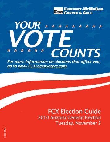FCX Election Guide 2010 Arizona General - BIPAC