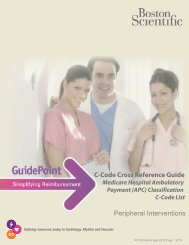 C-Code Cross Reference Guide Peripheral ... - Boston Scientific