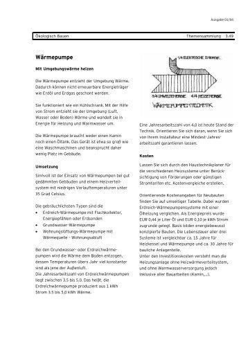 Wärmepumpe - Energieinstitut Vorarlberg