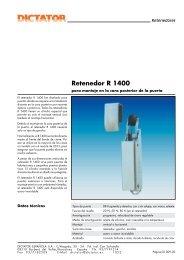 05 Retenedor R 1400 - Dictator