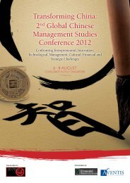 2nd Global Chinese Management Studies Conference 2012