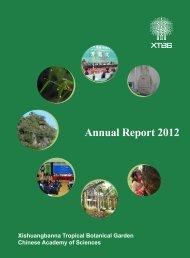 Annual Report 2012 - Xishuangbanna Tropical Botanical Garden,CAS