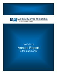 2010-2011 Annual Report - Lake County Office of Education