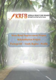 State Road Improvement Project Rehabilitation ... - Emerging Kerala