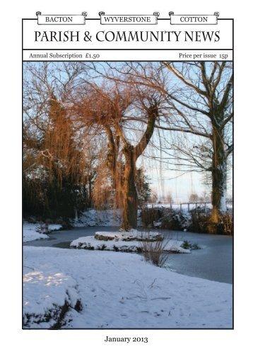 January 2013 - Cotton Parish