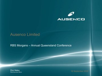 RBS Morgans - Annual Queensland Conference - Ausenco