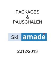 PACKAGES & PAUSCHALEN 2012/2013 - Ski amadé