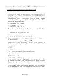 Aufgaben zu Komplexität von Algorithmen (SS 2010) Aufgabe 25 ...