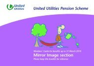 Mirror Image Section - About United Utilities