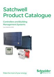 Satchwell Product Catalogue - Schneider Electric