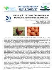 produção de ovos das poedeiras de ovos castanhos embrapa 031
