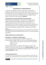 Ergebnisse interpretieren - Universität Duisburg-Essen