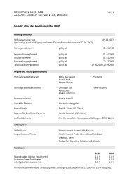 PENSIONSKASSE DER ALCATEL-LUCENT SCHWEIZ AG, ZÜRICH ...