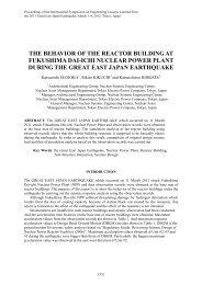 The Behavior of the Reactor Building at Fukushima Dai-ichi Nuclear ...
