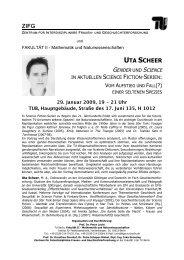 ZIFG UTA SCHEER - TU Berlin