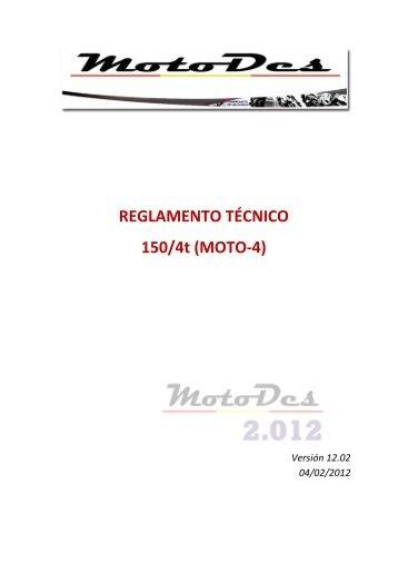 Reglamento Técnico Moto 4 (150 4T)