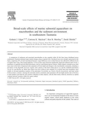 Broad-scale effects of marine salmonid aquaculture on ... - ecasa