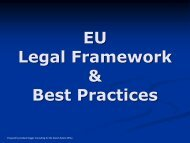 EU Legal Framework_Best practices