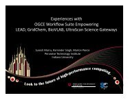 Experiences with OGCE Workflow Suite ... - Indiana University