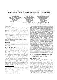 Composite Event Queries for Reactivity on the Web