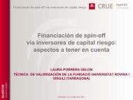 Financiación de spin-off vía inversores de capital riesgo