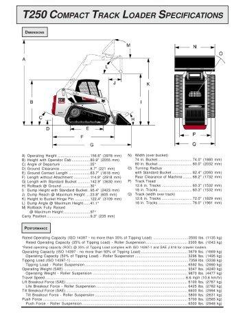Bobcat T250 Compact Track Loader - Location Blais
