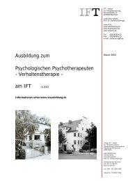 Ausbildung zum Psychologischen Psychotherapeuten ...