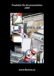 www.flexima.se Produkter för din presentation 2009 - Flexima AB