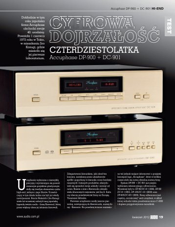 Accuphase DP-900;DC-901 - Audio