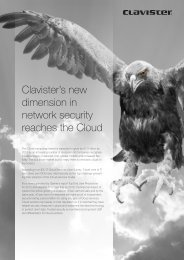 Security in the Cloud - Clavister
