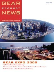 October 2005 - Gear Product News