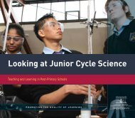 Looking at Junior Cycle Science - Department of Education and Skills