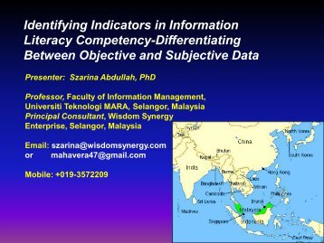 Identifying Indicators in Information Literacy Competency ...