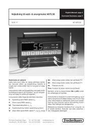 Vejledning til watt- & energimeter 4075.50 - Frederiksen