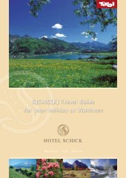 S)CHIC(K) Travel Guide for your holiday at Walchsee - Hotel Schick