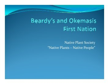 Native Plants – Native People - Native Plant Society of Saskatchewan