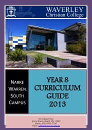 Year 8 Curriculum Guide 2013 - Waverley Christian College