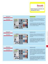 GoTo Program products are highlighted below. - Bosch Rexroth