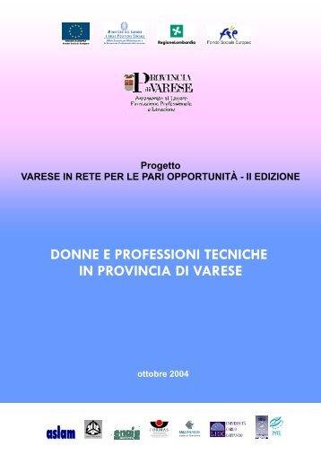DONNE E PROFESSIONI TECNICHE IN PROVINCIA DI VARESE