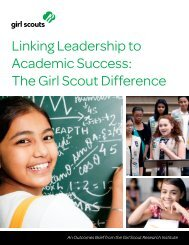 Linking Leadership to Academic Success - Girl Scouts of the USA