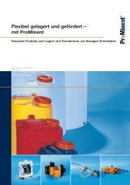 Broschüre - Behälter und Transferpumpen - ProMinent