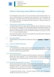 Leitlinien zur Bewertung wissenschaftlicher Ausarbeitungen