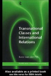 van der pijl-transnational classes and IR