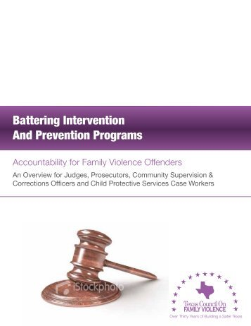 Battering Intervention And Prevention Programs - Texas Council on ...