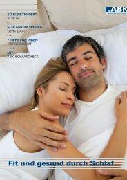 Fit und gesund durch Schlaf - ABK Einkaufsverband