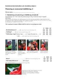 checklista för c-provet - Säker Skog
